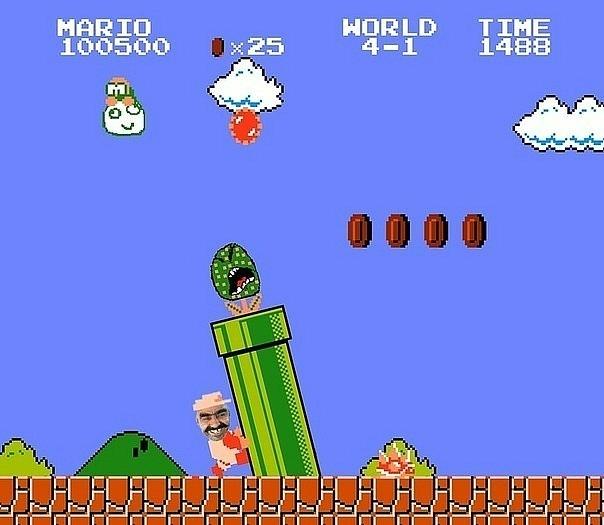Марио твой дом труба шатал