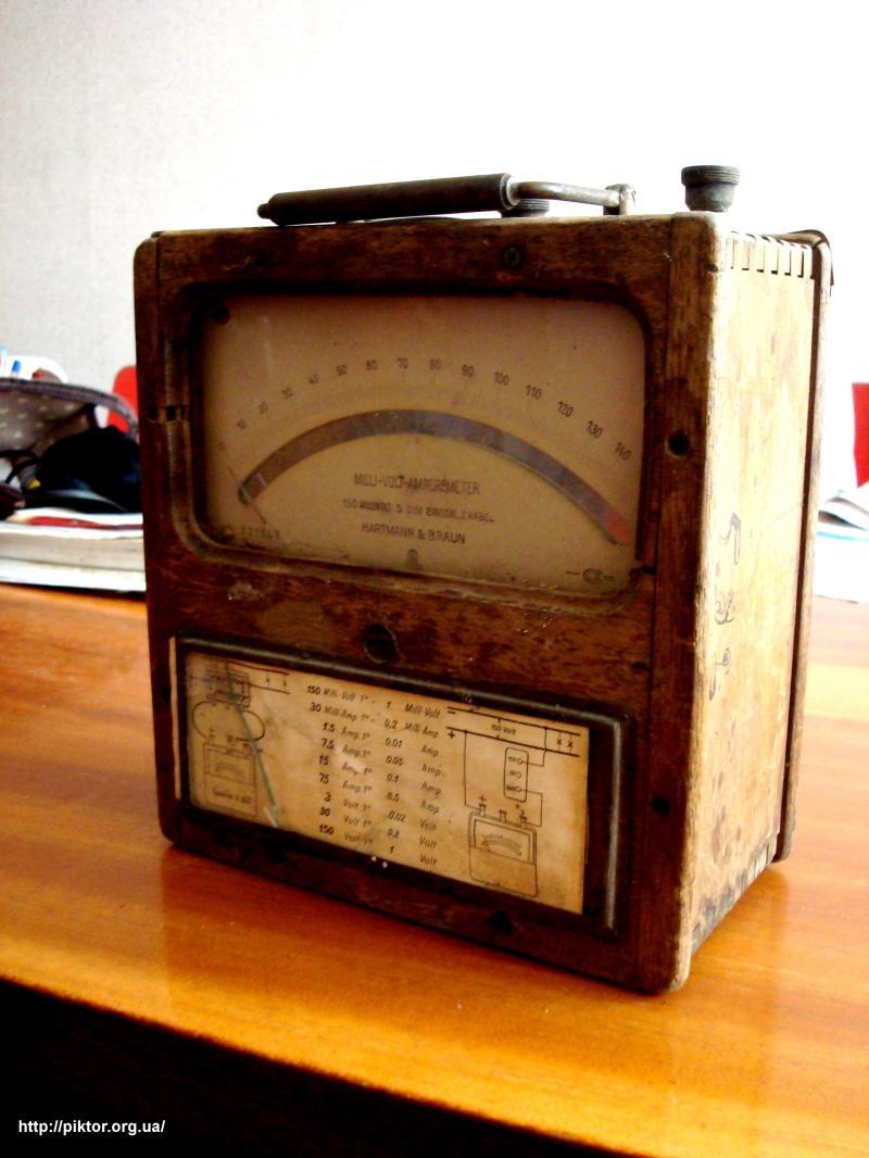 старий німецький мілівольтамперметр
