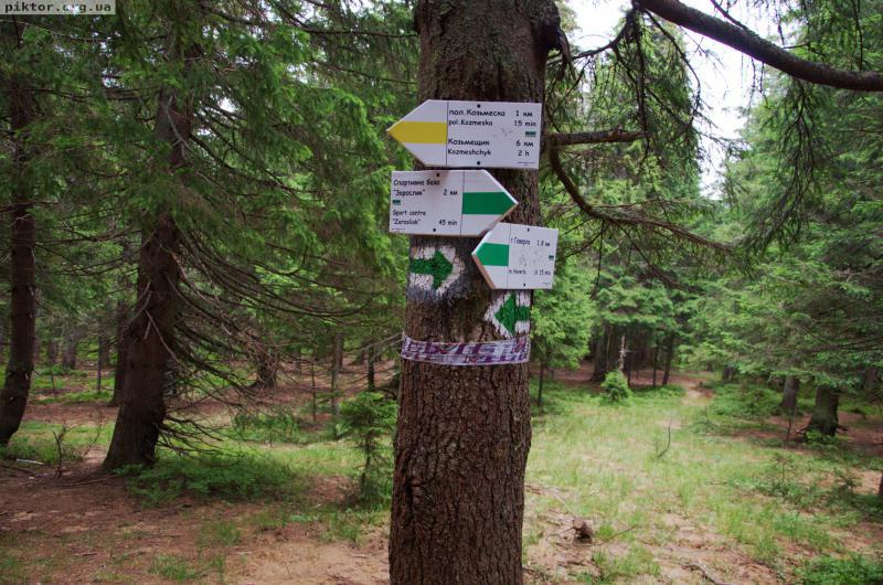 Вказівники туристичних маршрутів