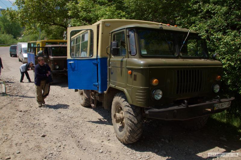 Посадка в ГАЗ-66