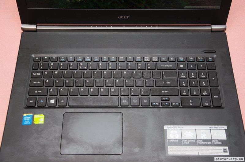 Клавіатура і тачпад