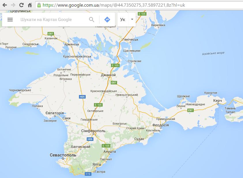 UA Google maps