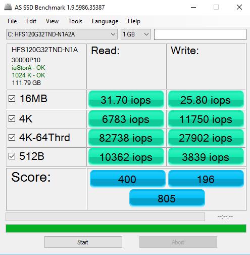 AS SSD IOPS