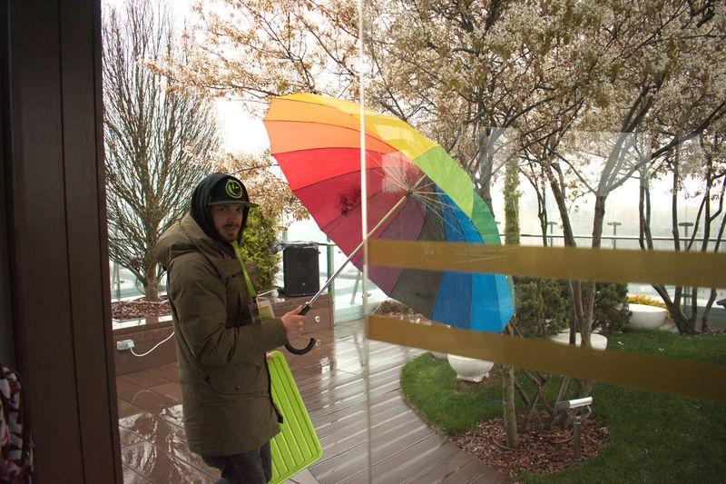 кольорова парасолька